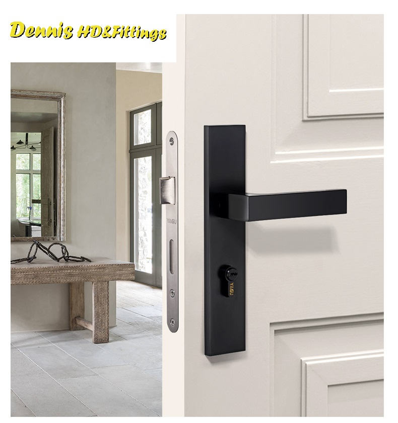 Premintehdw American Square Mortise Interior Door Lock 35-50mm door thickness premintehdw mortise interior door rosette lock set reversal 35 50mm door thickness with ceramic handle