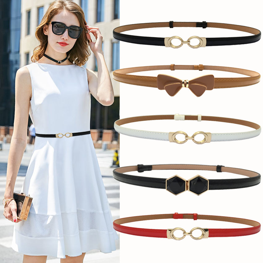 Fashion Woman Waist Belt Thin Adjust Belts Slimming Belts For Dress Women Red Luxury Female Casual Leather Belt Riem Waistbands