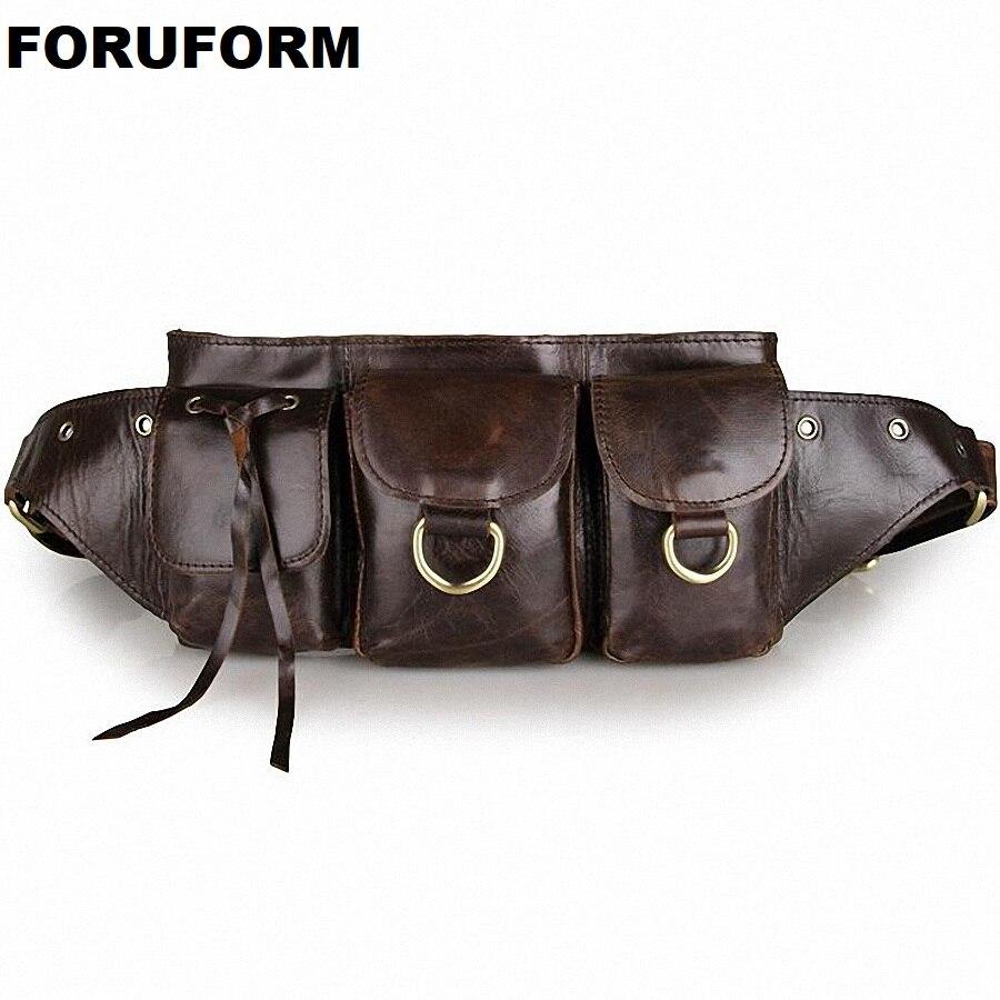 2018 Vintage En Cuir Véritable Sacs Taille Packs Pour Hommes Ceinture Taille Sacs Pour Hommes Casual Marque De Mode D'affaires Sac LI-1447