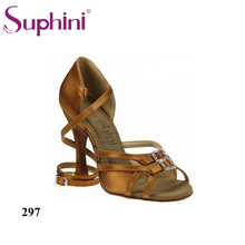 Free Shipping Suphini Hot Sale Design Latin Dance Shoes Leather Sole Salsa Shoes Woman Latin Dance