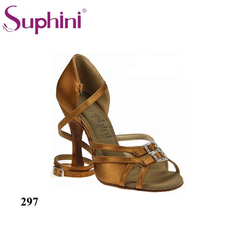 on sale 05325 030fb US $69.52 12% di SCONTO|Trasporto Libero Suphini Disegno Caldo di Vendita  di Scarpe Da Ballo Latino Scarpe di Cuoio Suola Salsa Scarpe Donna Scarpe  da ...