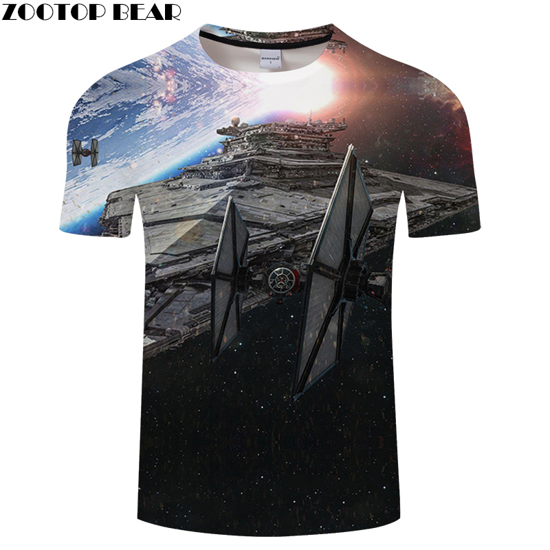 Universe shirt Men 3D Print Bodybuilding Fitness Breathable Summer Casual Shirts Star Wars Tees Quick Dry Male Tops ZOOTOPBEAR