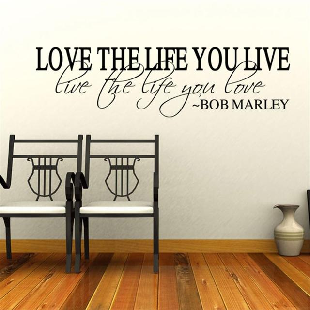 Love The Life You Live Wall Sticker 58 x 20 cm