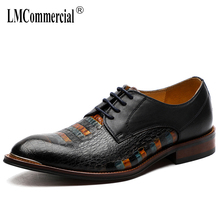 spring summer High Quality Genuine Leather Shoes Men,Lace-Up Business Men Shoes,Men Dress Shoes British retro men shoes cowhide цена 2017