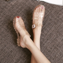 2019 New Stylish Summer Sandals Female Crystal Jelly Shoes Beach Shoes Boots Slip Plastic Shoes Students(China)