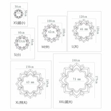 Ornate Flower Decorative 3d Acrylic Mirror Wall Ceiling  Stickers