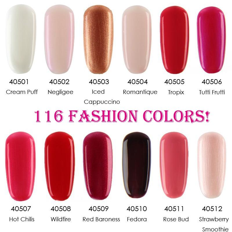 10pcs/lot Soak Off UV Led Gel Nail Polish Total 116Fashion Colors ...