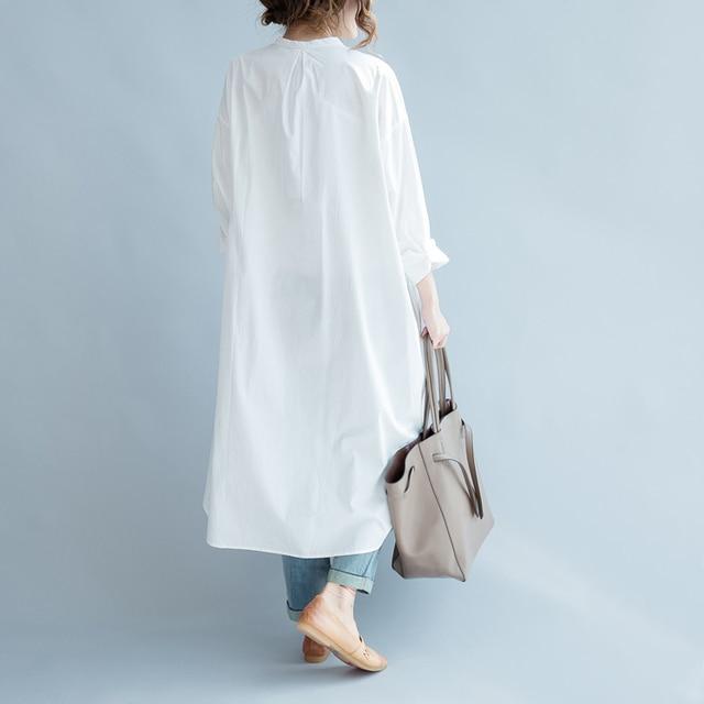 2018 blusas befree off shoulder top ladies long shirt fashion chemise femme long sleeve white blouse 2