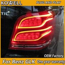 Kowell Автомобиль Стайлинг для Mercedes-Benz GLK200 GLK 260 GLK300 LED 2008- фонарь задний фонарь Парковочные тормоза отложным воротником сигнальные огни