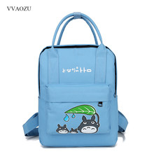 Japanese Multifunction Totoro Women Backpack Candy Color Nylon Travel  Shoulder Bag Laptop Backpacks Schoolbags for Students dd52b066e6