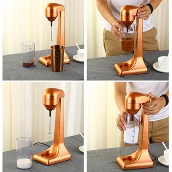220V Electric Milk Frother kitchen Coffee Milk Blender Mixing Multifunctional Foam Maker Milkshake EU/UK Plug 5