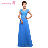 ladies long formal gowns womens floor length women occassions blue red modest dresses prom dress chiffon for ladies H1357