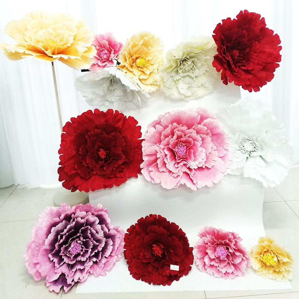 60cm Didelės šilko dirbtinės gėlės rožės / vestuvių fono apdaila Pradžia Dekoratyvinis gėlių / vestuvių lauko išdėstymas
