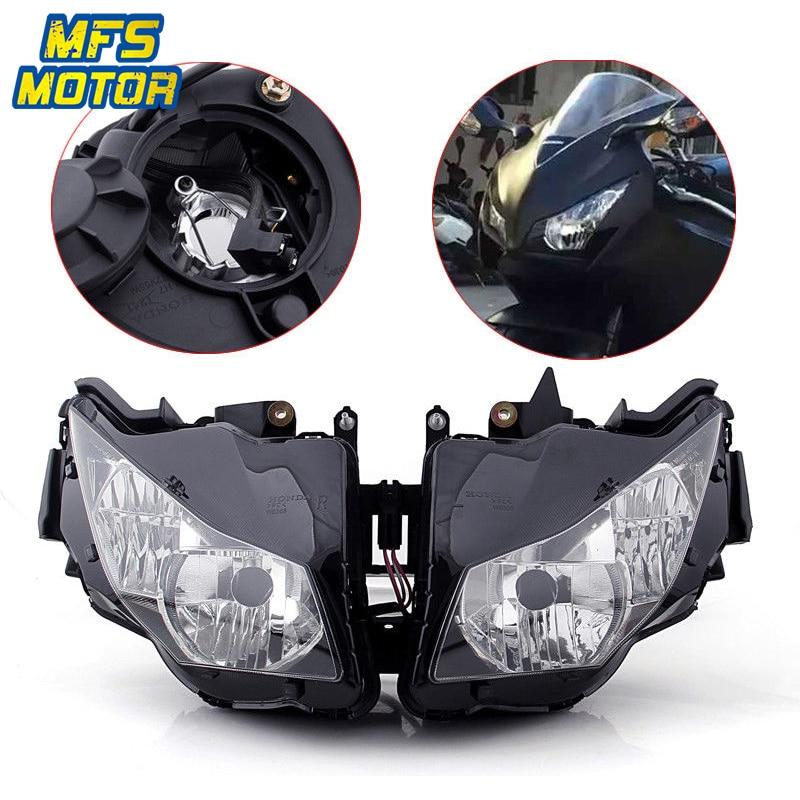Para Honda CBR CBR1000RR 12-14 1000RR Motocicleta Frente Farol Head Light Lâmpada Farol Montagem 2012 2013-2014