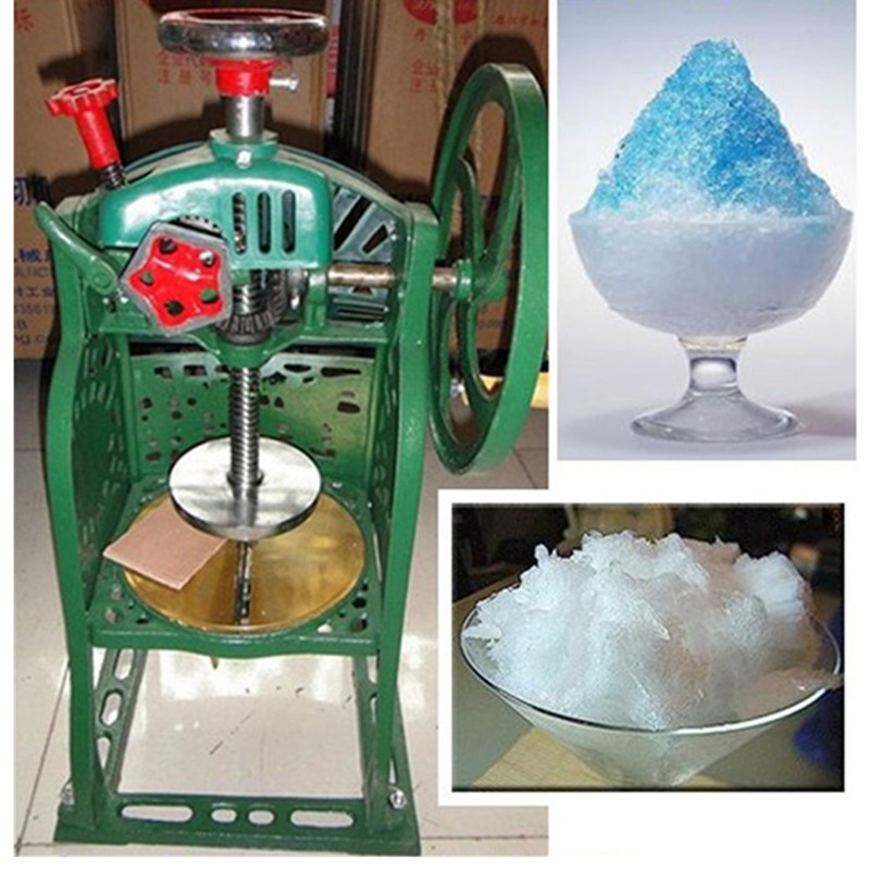 Hand-operated ice crusher shaved ice machine block shaving machine hand driven ice crusher commercial and home use crushed ice machine zf