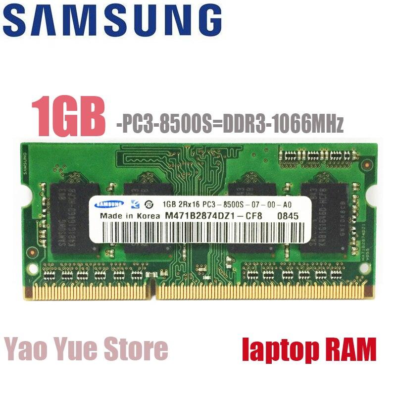 Samsung Ordinateur Portable Notebook 1 gb 2 gb 1g 2g PC3 8500 s 10600 s 12800 s DDR3 1066 mhz 1333 mhz 1600 mhz ECC Module mémoire 1333 1600 RAM