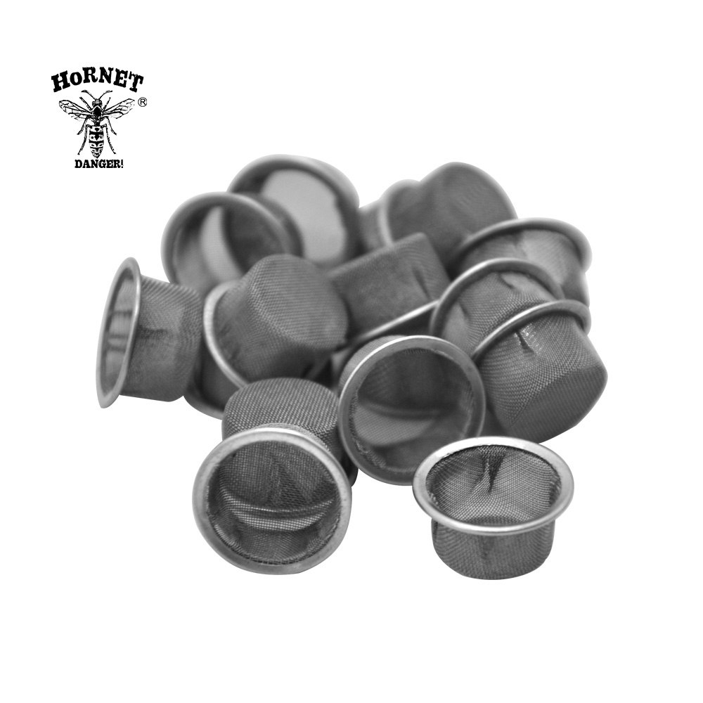 HORNET Smoking Pipe Stainless Steel Screens Tobacco Pipe For Crystal Pipes Smoking Smoking 13MM Screen Filters Metal Ball