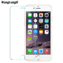 Wangcangli protective glass for iphone 7 2.5d tempered se 4s 5s 8 film 9h Protective HD