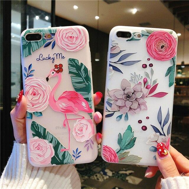 טלפון מקרה 3D הבלטה יפה פרח slim fit בולם זעזועי רך גומי כיסוי רך TPU עור מקרה עבור iphone 7 Xr X 8 xs בתוספת