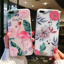 Ốp lưng điện thoại 3D Đắp Nổi Hoa Đẹp mỏng ShockAbsorbing vỏ Cao Su Mềm TPU mềm Skin cho iPhone 7 XR X 8 XS Plus