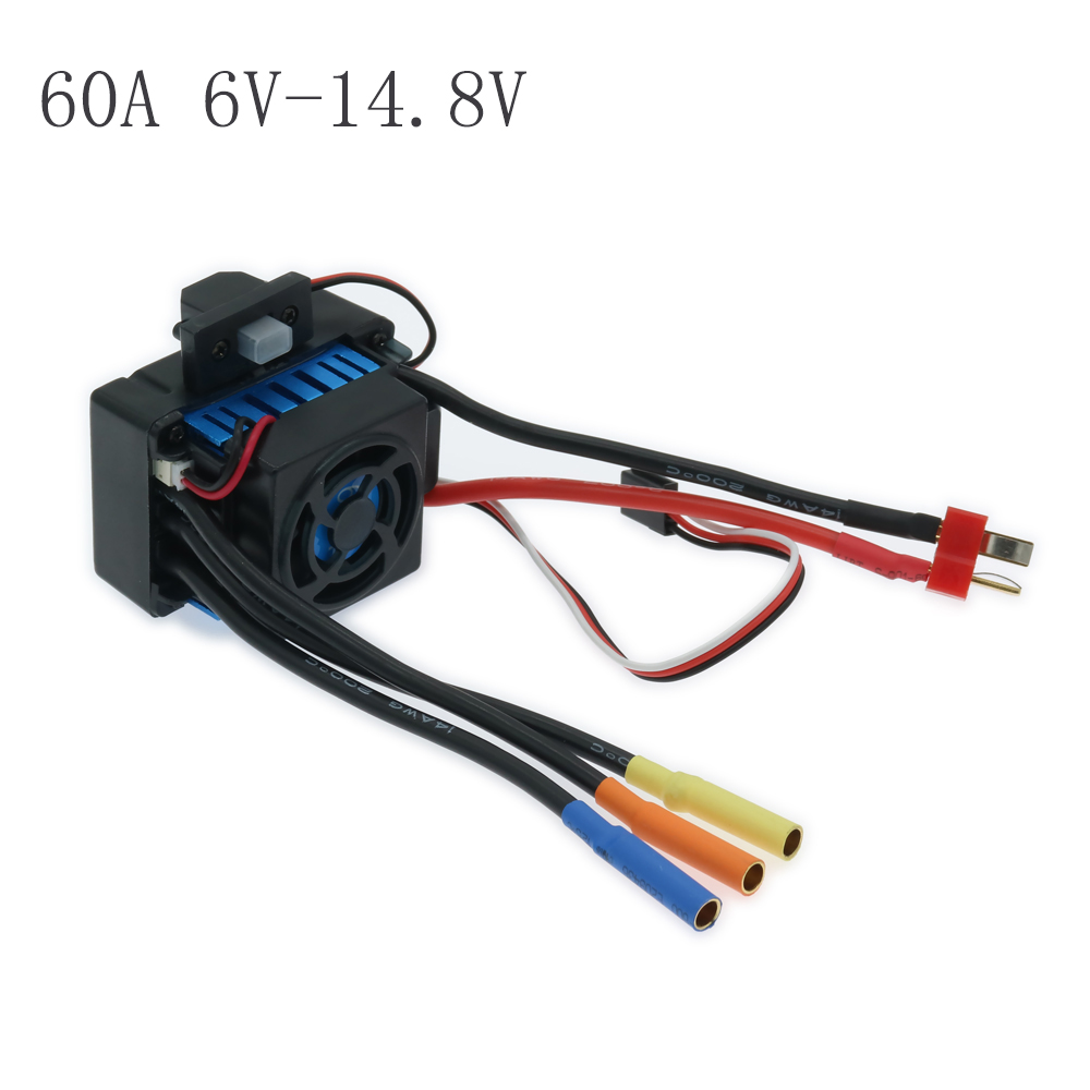 25A 45A 60A Waterproof Brushless Esc Electronic Speed Controller For Rc Model Car Boat Hsp Traxxas 6V-7.4V  6V-11.1V 6V-14.8V sensorless 35a brushless esc electric speed controller for rc car racing set ft
