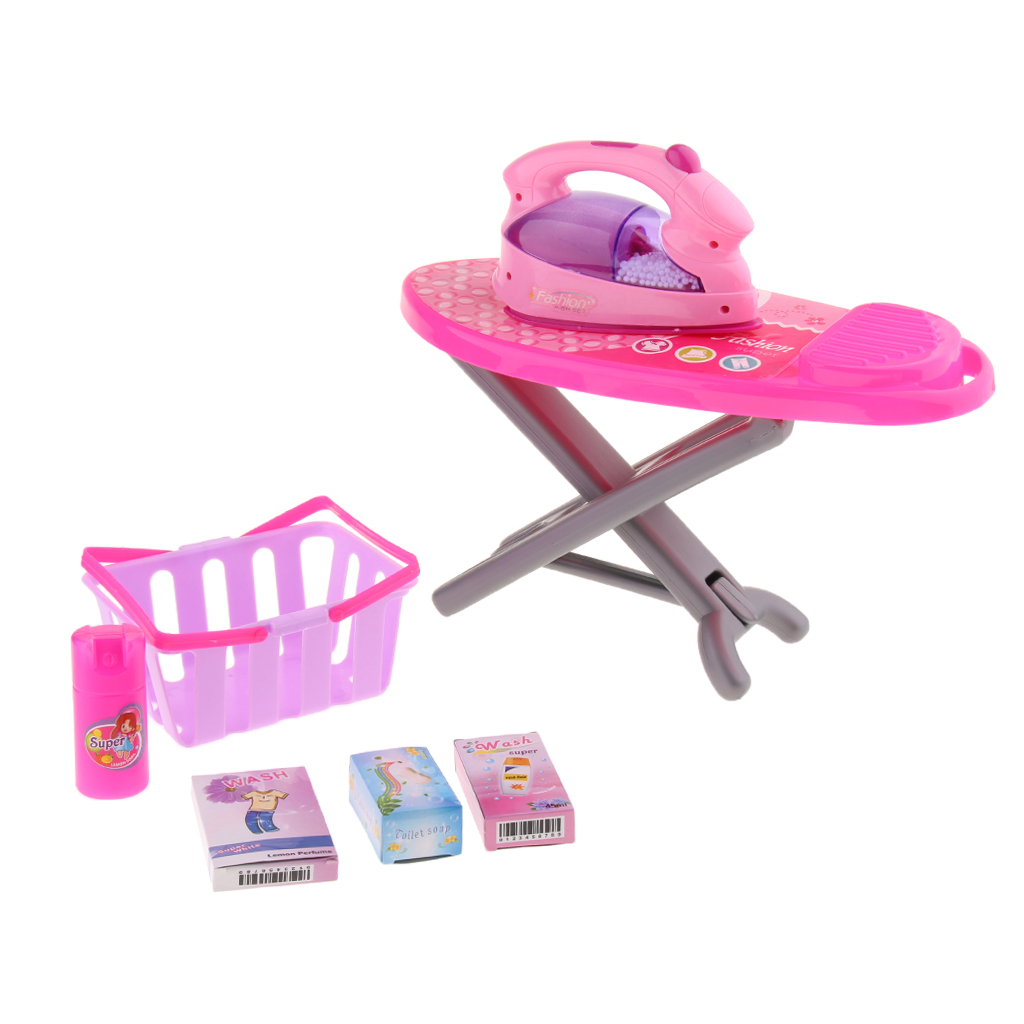 Plastic Simulation Home Appliance For Kids Role Play Toy - Ironing Board Set