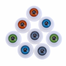 8PCS 4Pair Multicolor 25mm Half Round Plastic Doll Eyes For font b Toy b font Eyes