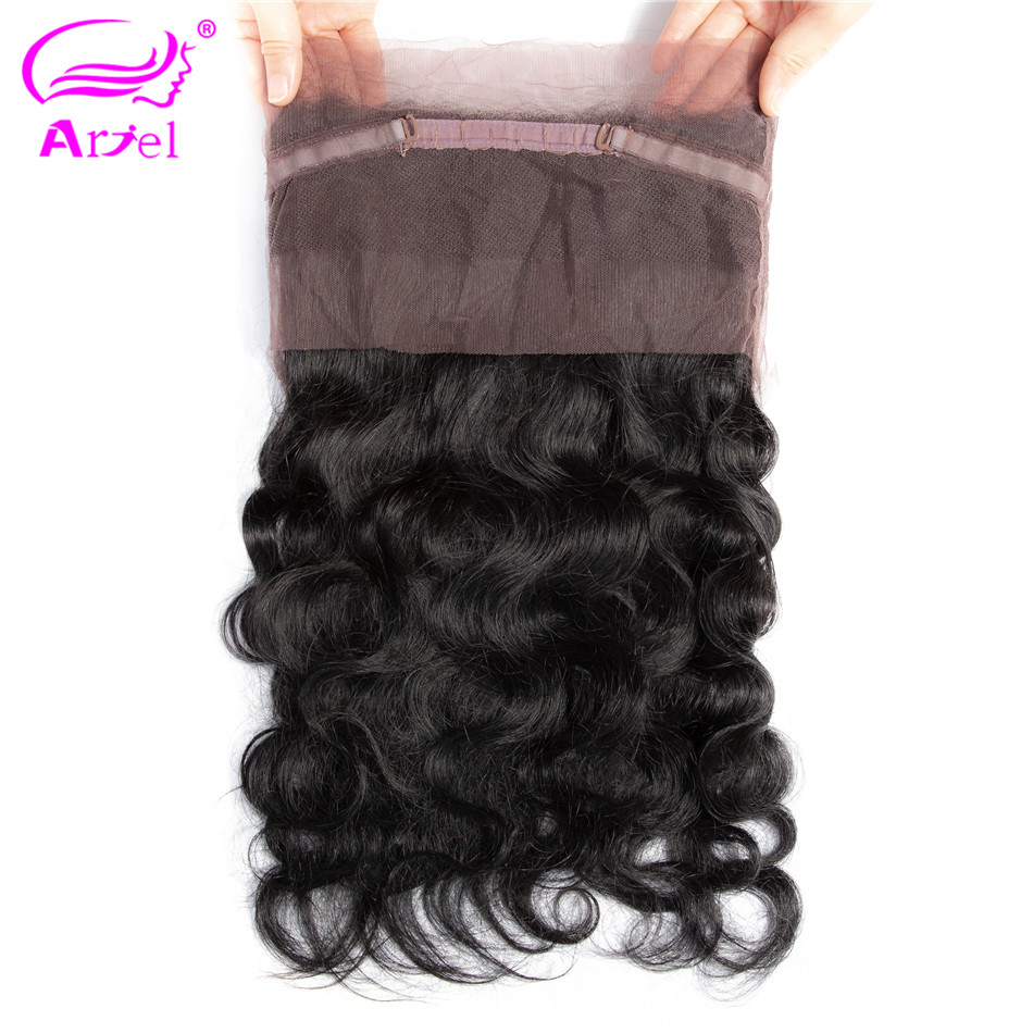 Ariel Lace-Frontal-Closure Hair Free-Part Indian 100%Human-Hair-Extension Body-Wave Non-Remy