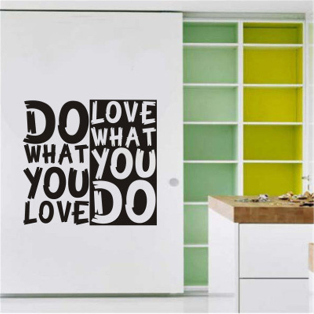 Do What You Love Inspirational Quotes Wall Sticker