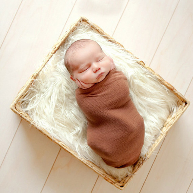 Soft Baby Fur Blankets for Newborn Photography
