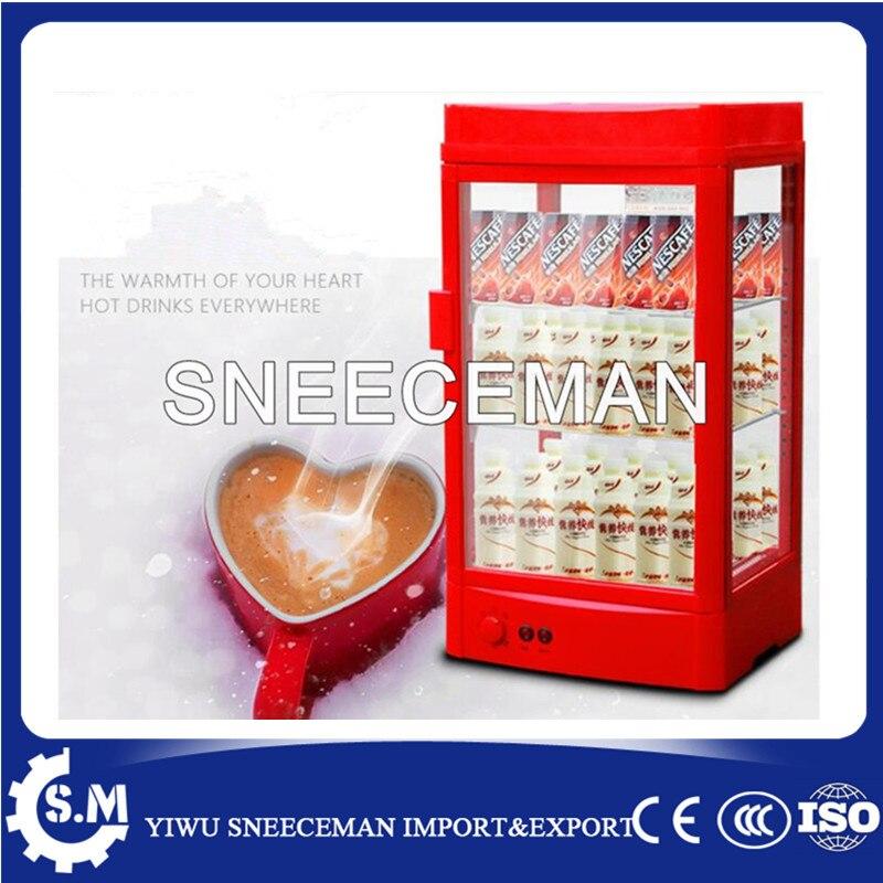 60L vertical single hot drinks cabinet supermarket drinks milk tea heating insulation cabinet hot display clean green drinks