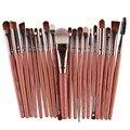 20 Unids/set Nueva Maquiagem Pinceles de Maquillaje Profesional Conjunto de Herramientas Herramientas Kits de Sombra de Ojos Paleta de Cosméticos componen Cepillos