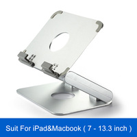 7 to 13.3 inch Laptop Folding Stand Aluminum Alloy Tablet Desk Holder For iPhone iPad Macbook Tablet Adjustable Stand Holder