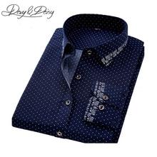 DAVYDAISY Casual Shirt Men Autumn Social Print Dress Slim Fit Long Sleeve Shirt Male Brand Clothing Chemise Homme 4XL DS-165