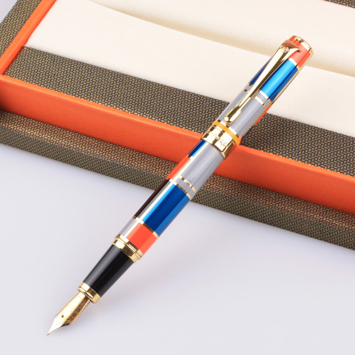 New arrival multicolour 767 senior iridium fountain pen fountain pen ink pen gift pen  FREE shipping hero 573 black silver square grid senior iridium fountain pen fountain pen classic free shipping