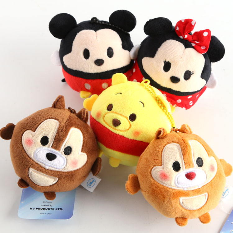 50 pcs Tsum Tsum mini plush lot pendants Minnie Mickey Winnie Chipmunks figures dolls keychains for