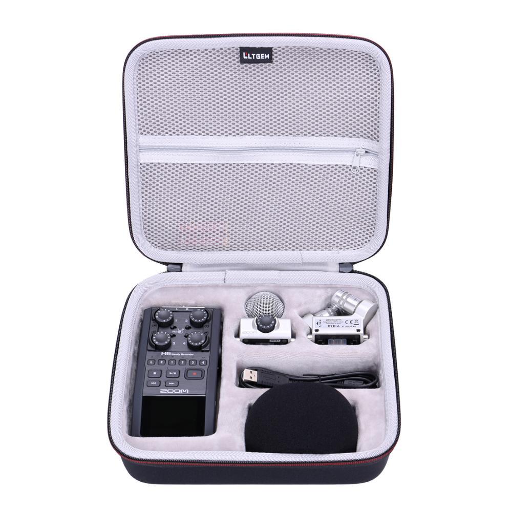 LTGEM EVA Waterproof Shockproof Hard Case For Zoom H6 Six-Track Portable Recorder