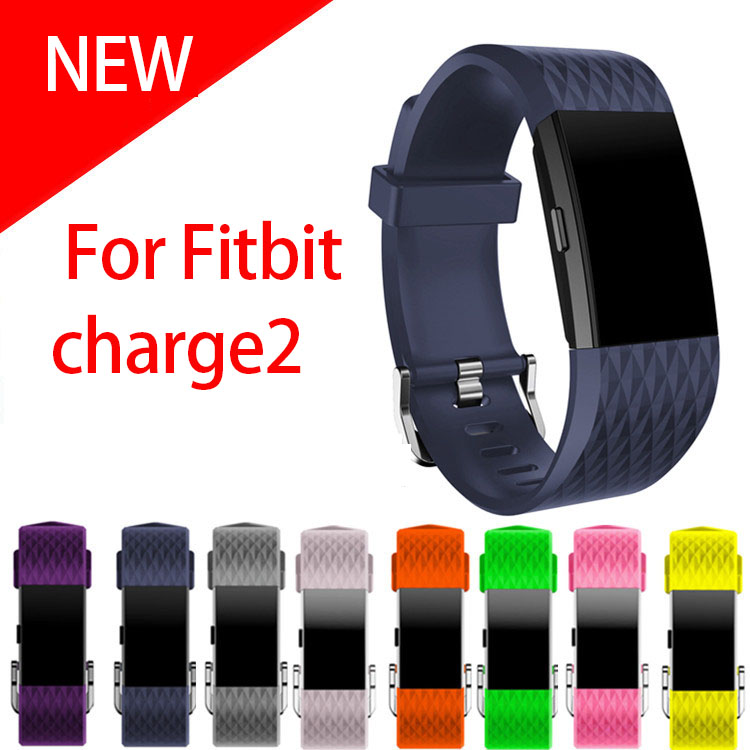 Small and Large Size silicone Watch Band For Fitbit Charge 2 Sport Watch Strap Bracelet men & women watchbands eache silicone watch band strap replacement watch band can fit for swatch 17mm 19mm men women