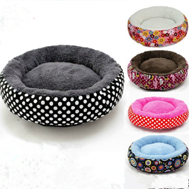 New Canvas Round Pet Bed 2 Size Printed Keep Warm Pet Dog Mat Bed Pet Supplies