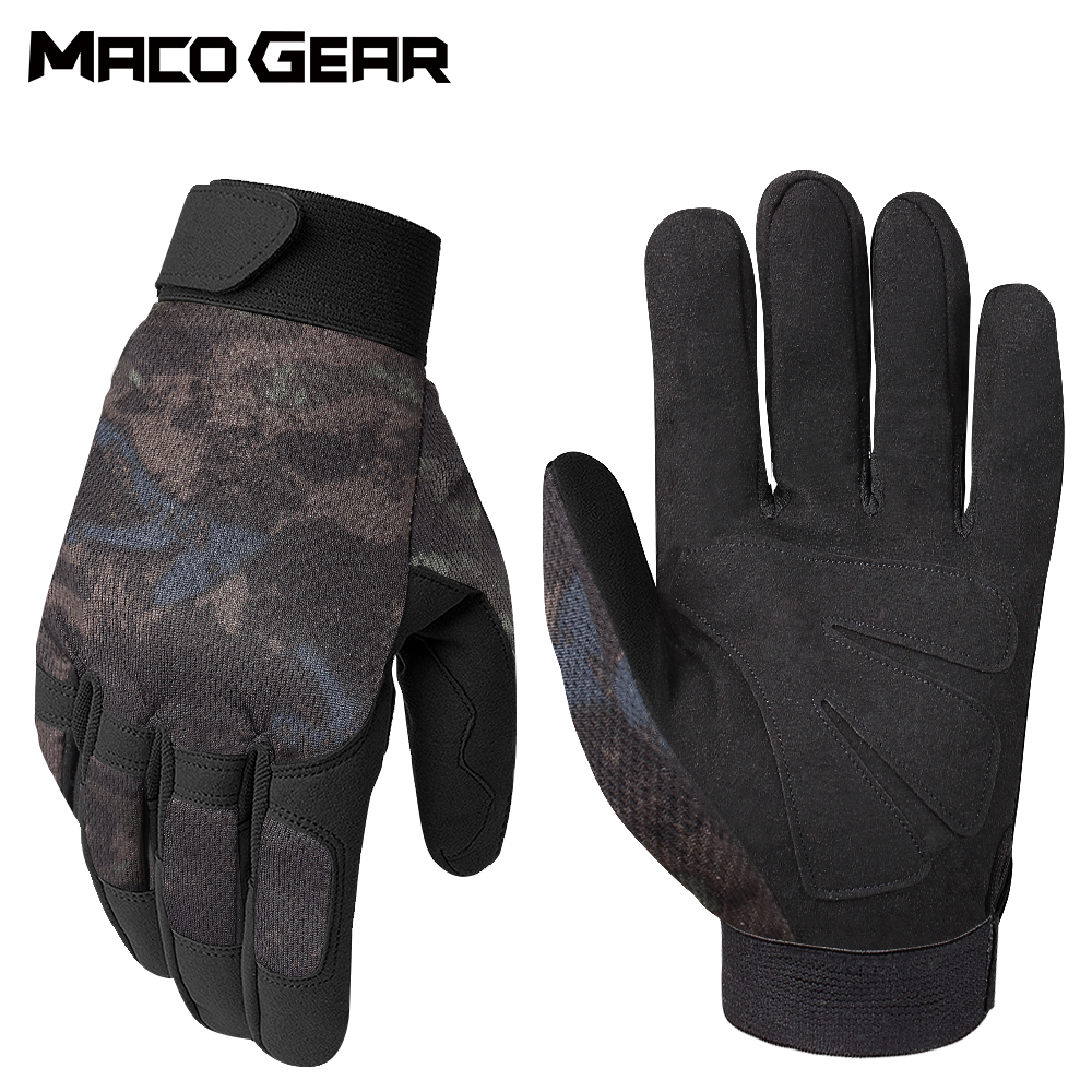 Multicam Camo Tactical Gloves Army Military Combat Airsoft Bicycle Outdoor Climbing Shooting Paintball Hunting Full Finger Glove