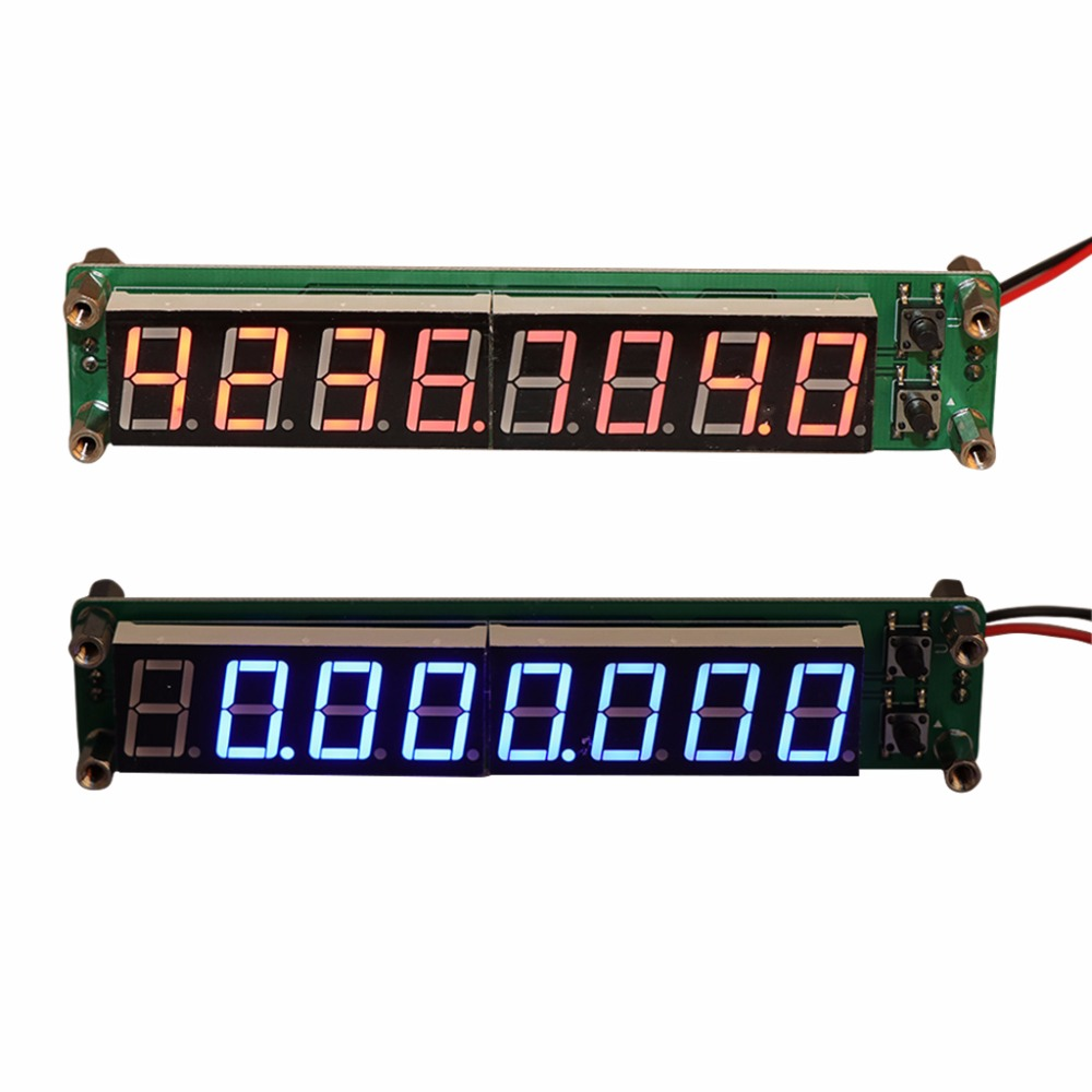 0 1 60MHz 20MHz 2 4GHz RF 8 Digit LED Singal Frequency Counter Meters Cymometer Tester Tool in Frequency Meters from Tools