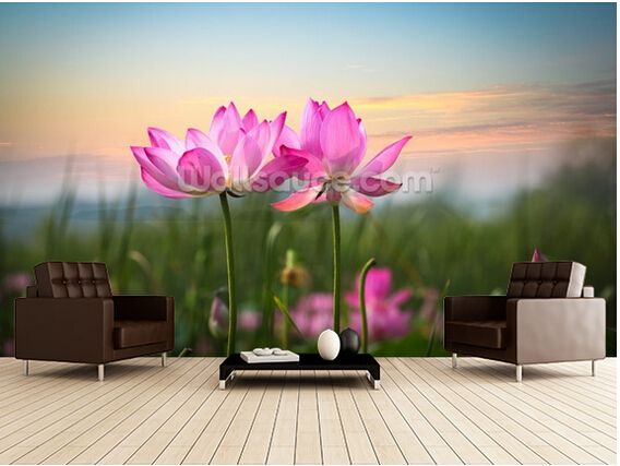 Carta Da Parati Fiori Di Loto : Personalizzato carta da parati floreale fiore di loto nel