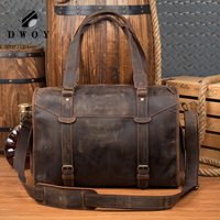 Men's bag capacity Crazy Horse Real leather large shoulder weekend bag duffel bag big genuine leather business men's travel bags