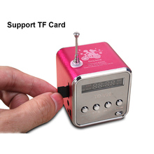 TD V26 Mini Radio FM Digital Portable Speakers with FM Radio Receiver Support SD/TF Card for Mp3 Music Player USB Charging