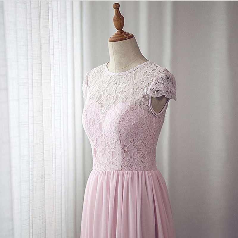 תמונות אמיתיות סקופ שווי שרוולים מקיר לקיר תחרת שיפון שושבינה שמלות זול בית המשפט רכבת שיפון תחרת שושבינה שמלות