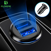 FLOVEME Mini USB Car Charger For iPhone X 8 7 6 Plus 3.1A Fast Xiaomi Redmi Note Dual Adapter