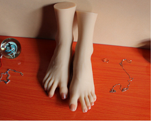 Solid silicone feet model sex products real doll man foot fetish toys
