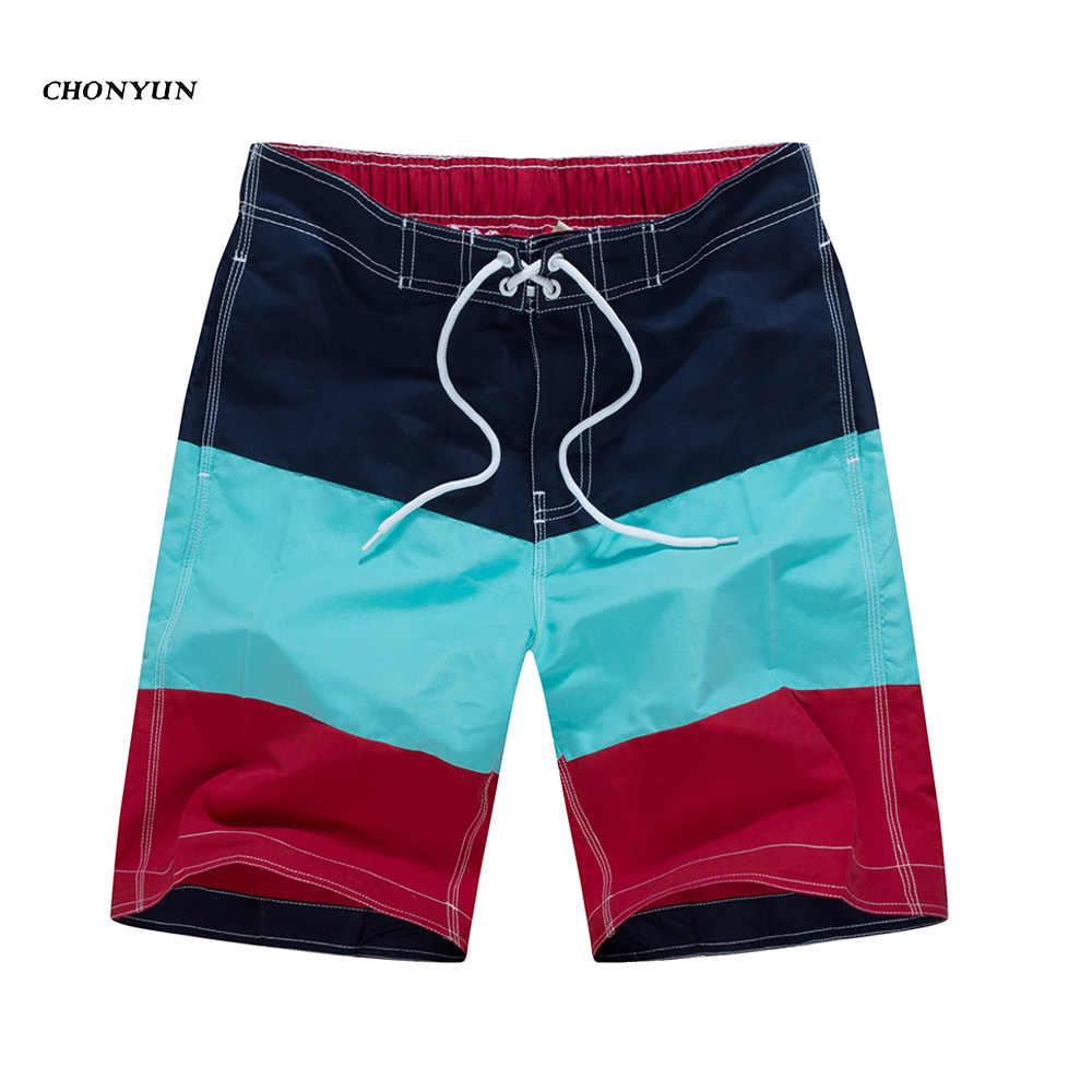 80d1642ff8 ... NEW Summer Beach Shorts For Men Swimming Surf Boardshort Bermuda Mens  Swimsuit Quick Drying Striped Swimwear ...