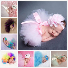 Newborn Baby Photography Props Costume Suit Cute Princess Skirt Crochet Handmade Beanie Cap Accounts Baby Summer Dress