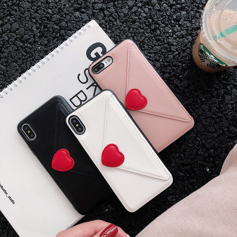 Glam PU Leather Wallet Phone Case For iPhone XMAX X XS Love Heart Credit Card Soft Cover For iPhone XR 6 6s 7 8 6PLUS 7PLUS Capa